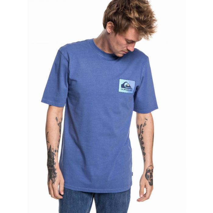 Tričko Quiksilver ORIGINAL CLASSIC PATCH BIJOU BLUE