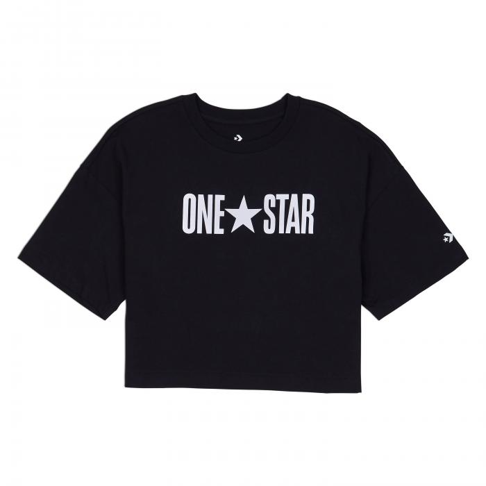Tričko Converse One Star Printable Boxy Tee BLACK