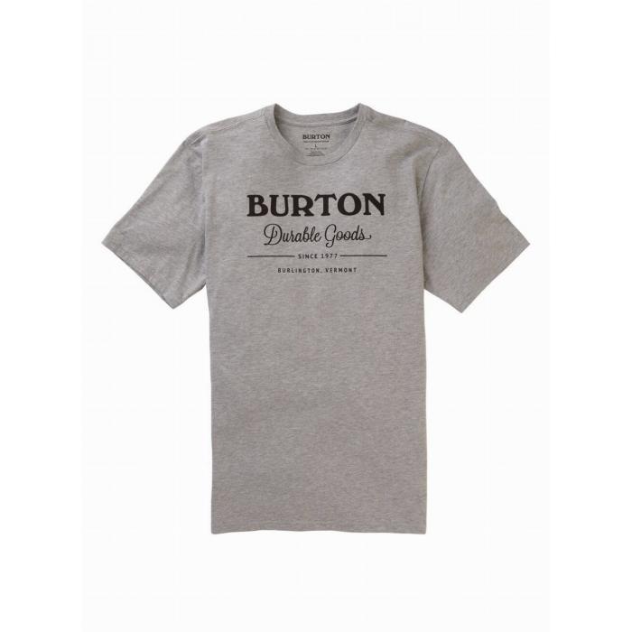 Tričko Burton DURABLE GOODS SS GRAY HEATHER