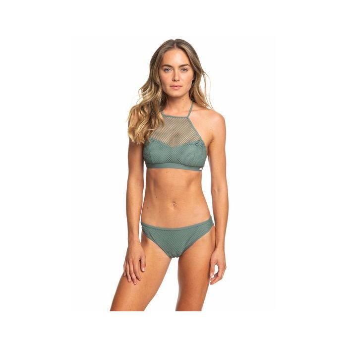 Plavky Roxy Garden Summers - Crop Top Bikini Set DUCK GREEN