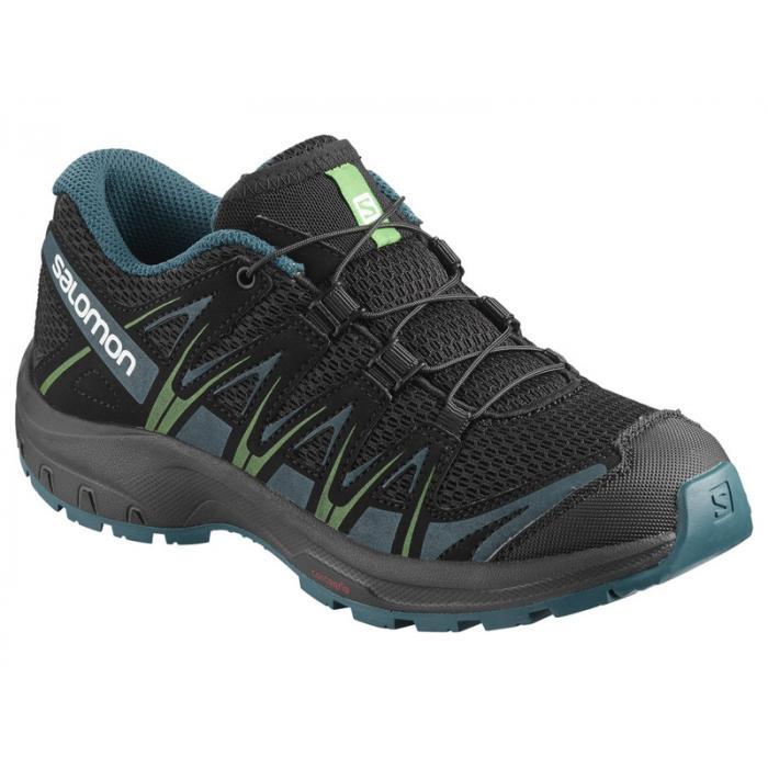 Běžecké boty Salomon XA PRO 3D J XA PRO 3D J Black/Deep Lagoon/Onlime Lime