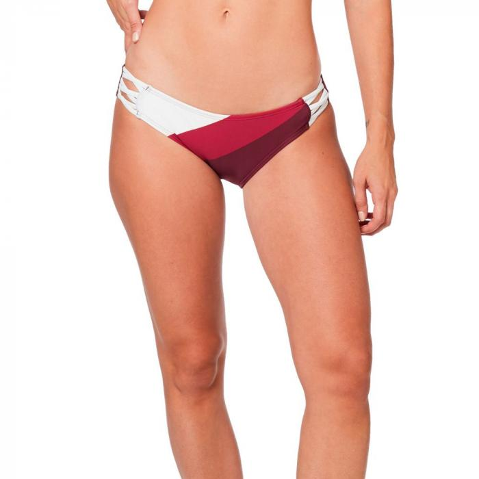 Plavky Fox Kingsport Lace Up Btm Cranberry