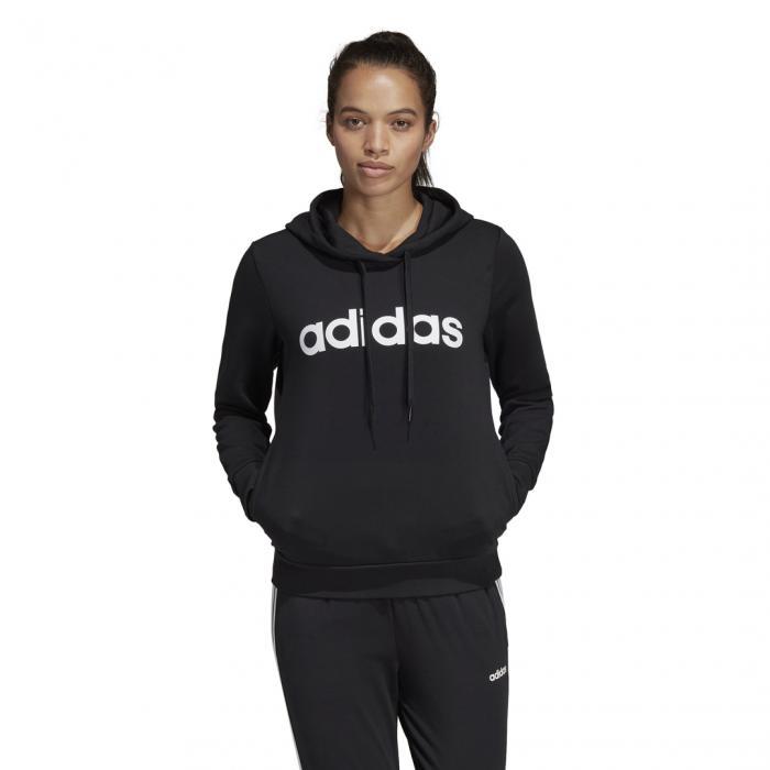Mikina Adidas W E LIN OH HD BLACK/WHITE