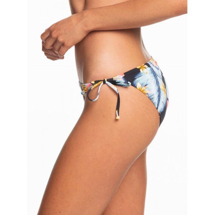 Plavky Roxy Dreaming Day Tie-Side Bikini Bottoms ANTHRACITE TROPICAL LOVE S