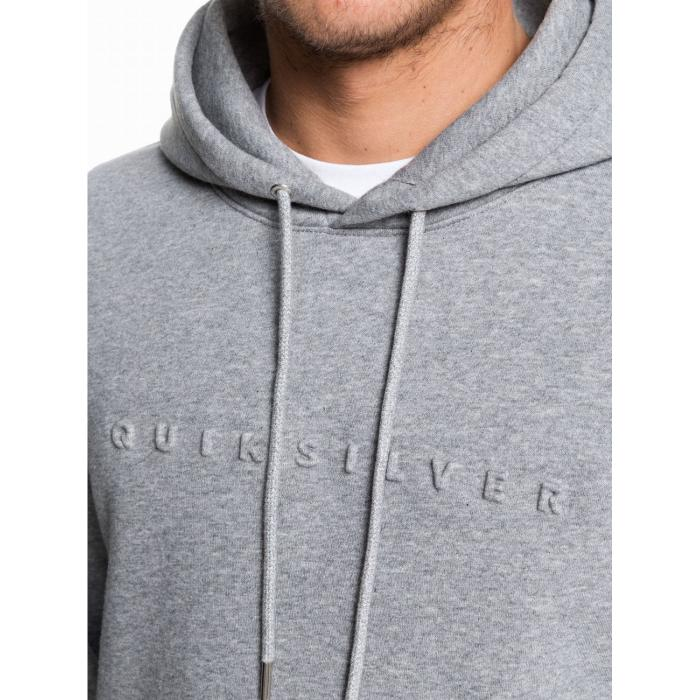 Mikina Quiksilver EMBOSS HOOD MEDIUM GREY HEATHER