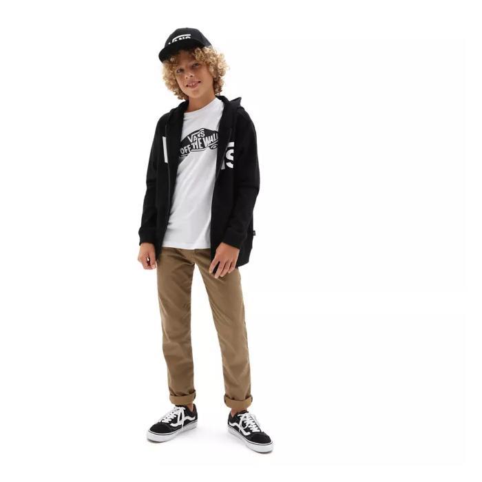 Mikina Vans CLASSIC ZIP BOYS Black/White