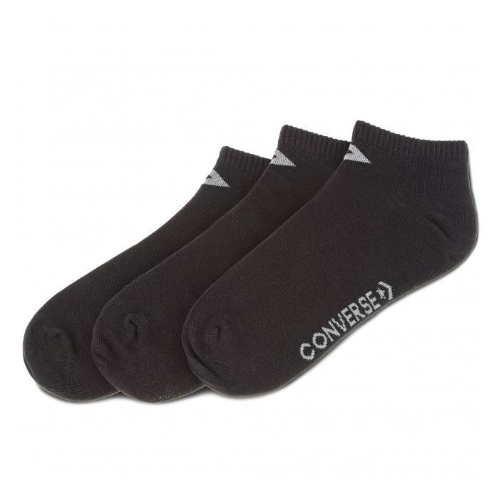Ponožky Converse 3PP low cut Black/grey x 3