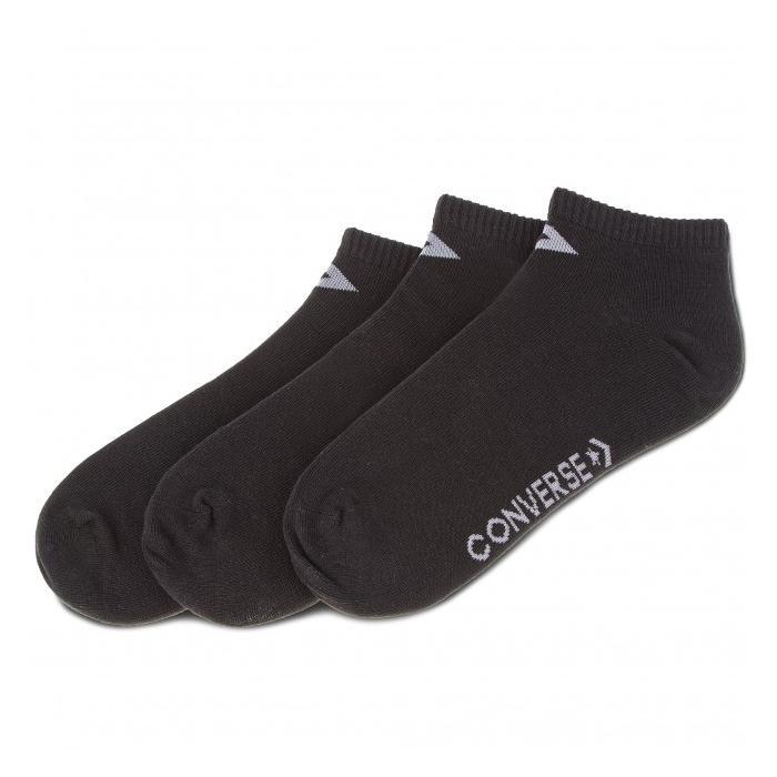 Ponožky Converse 3PP Basic Men low cut, flat knit - Low cut Black/Grey