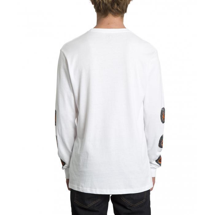 Tričko Volcom Family Stone Bsc Ls White