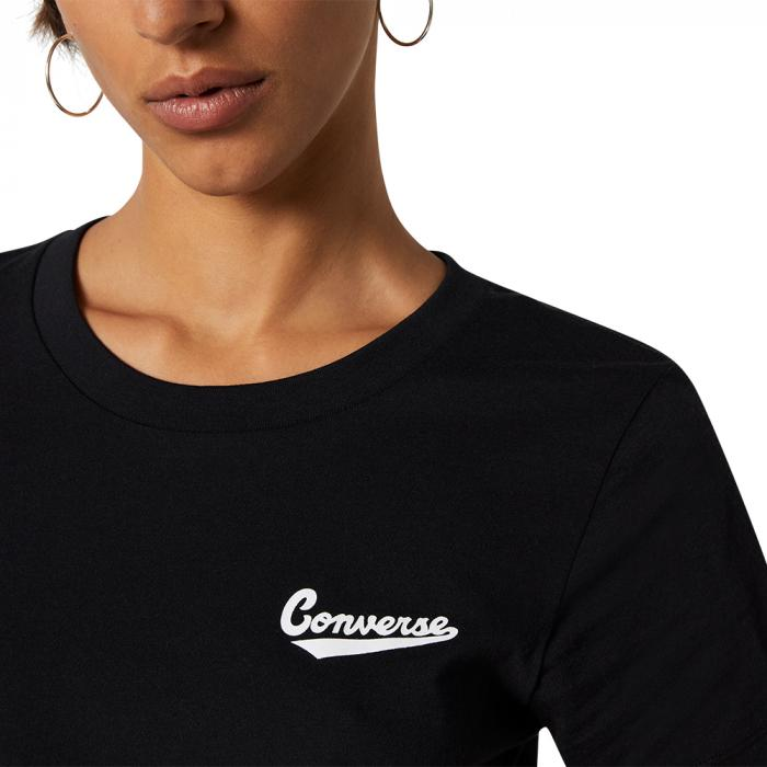 Tričko Converse LEFT CHEST LOGO TEE BLACK