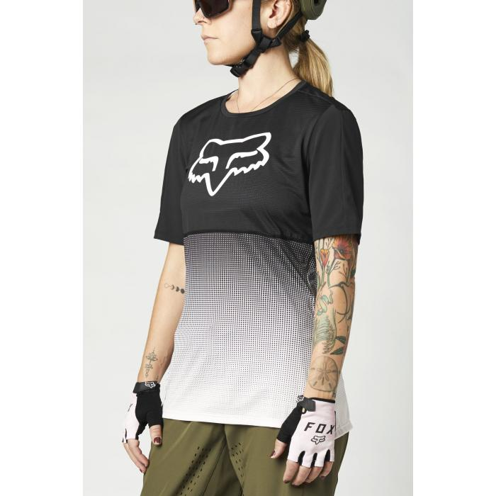 Cyklodres Fox W Flexair Ss Jersey Black/Pink