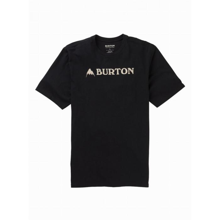 Tričko Burton HORIZONTAL MTN SS TRUE BLACK