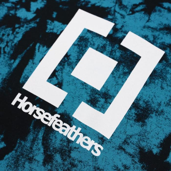 Mikina Horsefeathers LEADER SWEATSHIRT blue tie dye